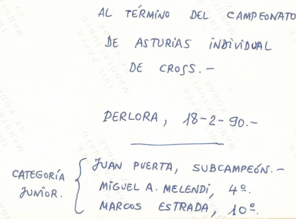 Campeón de Asturias Junior de Campo a Través. 1990. Foto 034.
