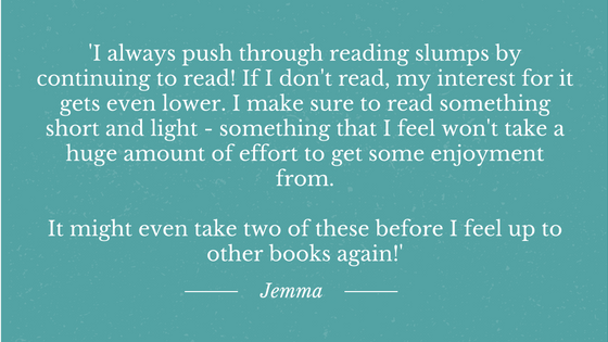 Reading Slumps Jemma