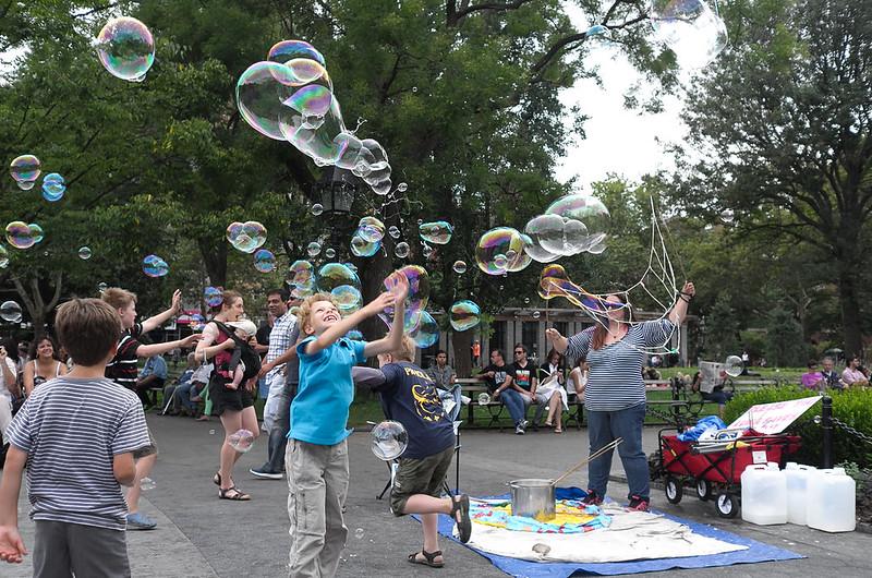 Bubble in Washington Square Park 2014