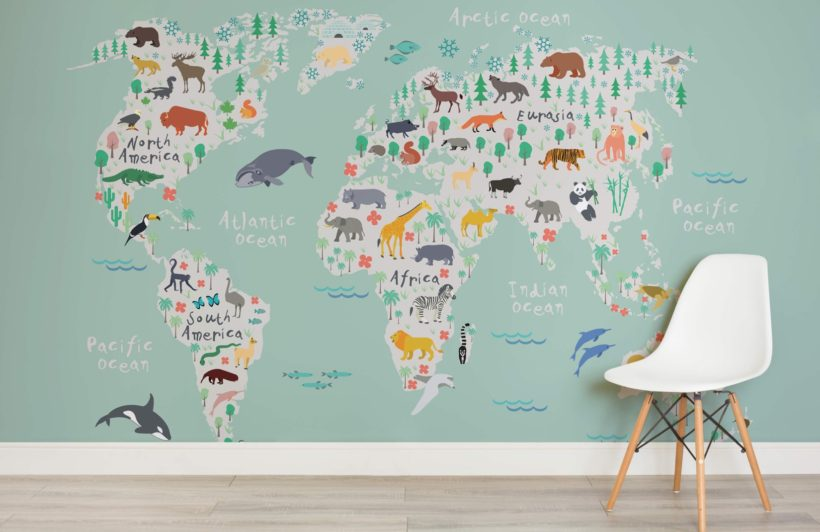 Safari map kids wallpaper