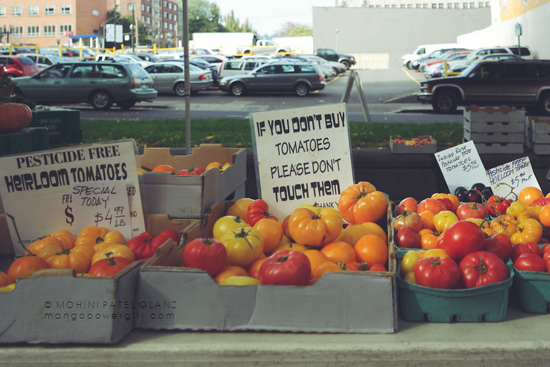 tomatoes at portland farmers market