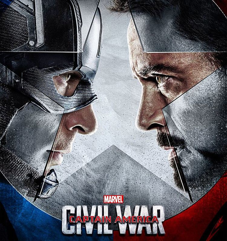 Image result for captain america civil war poster