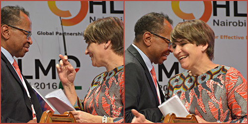 Smith Jimmy thanks Lillianne Ploumen, GPEDC-Co-Chair and Netherlands Minister for Foreign Trade and Development Cooperation