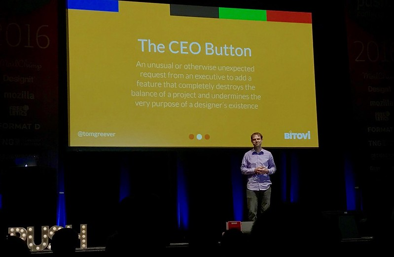 Push. Tom Greever - The CEO Button