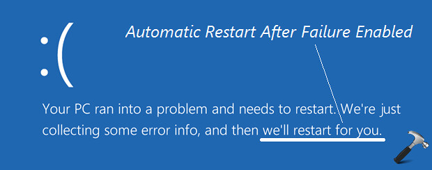 disable automatically restart windows 10