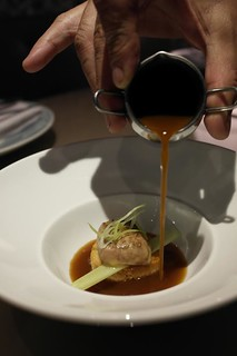 Sopa de Ajo Asado con Foie de la Casa y Yema al Gusto