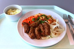 Cevapcici With Tomato Rice Ajvar Fresh Onions Cevapci Flickr
