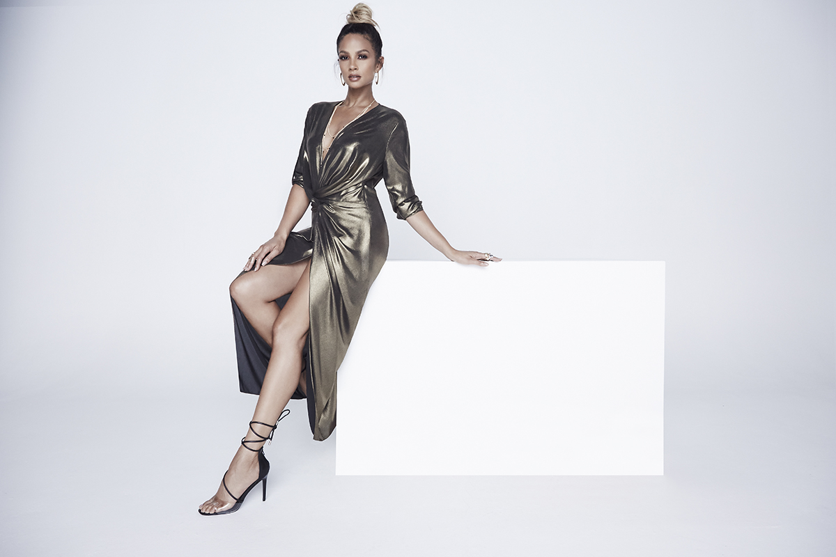 Alesha_Dixon_Plunge_Knot_Maxi_Dress_£89_LittleBlackDress.co.uk-2