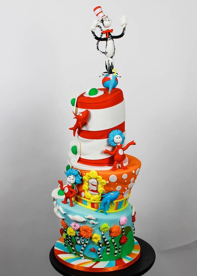 Dr. Seuss cake by Nerdache Cakes