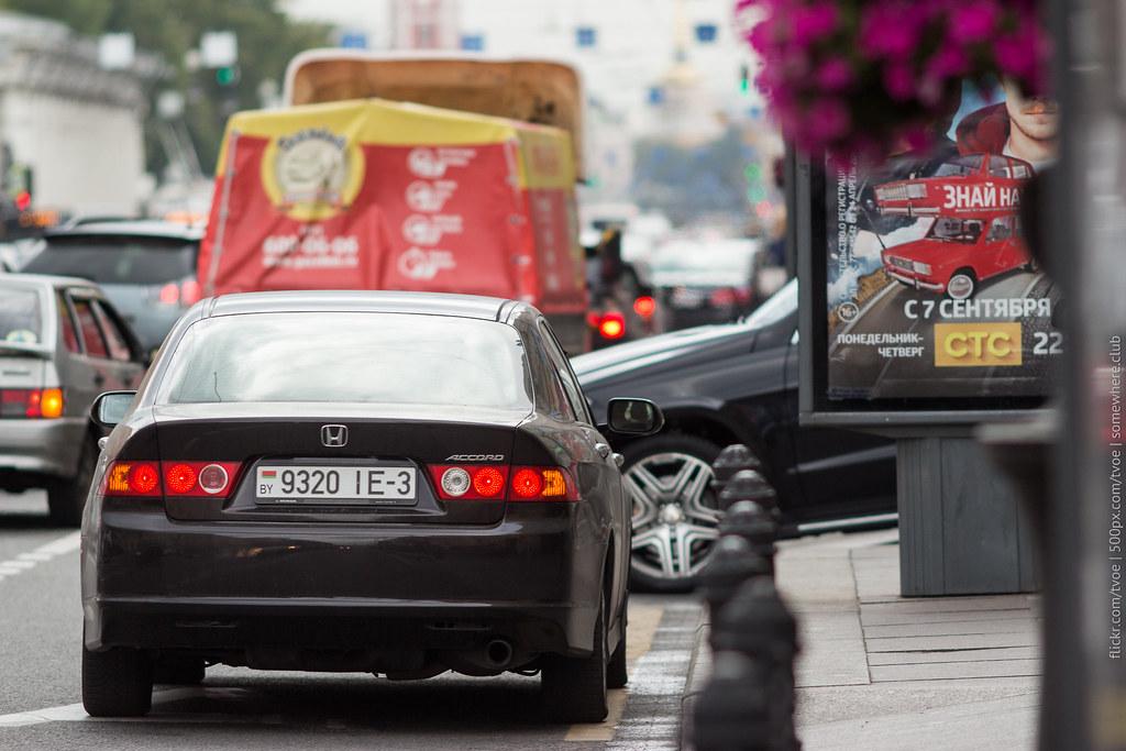 Honda Accord на Невском проспекте в Петербурге