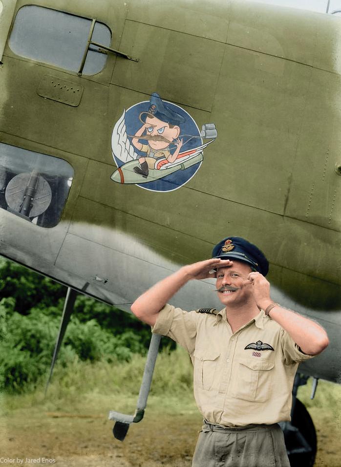 Amazing Historical Photo of W.G. Leer on 8/1/1943
