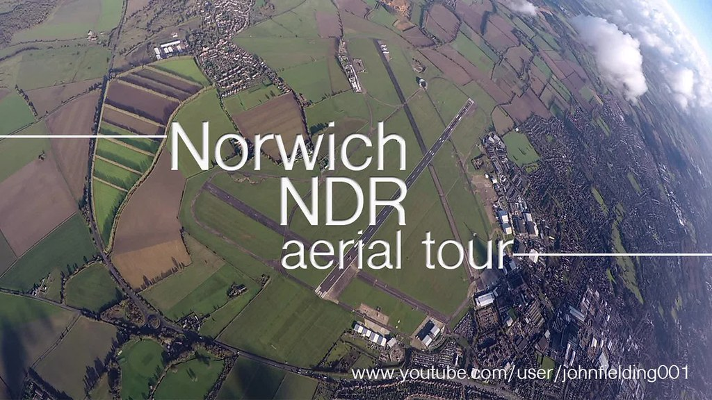 Norwich Ndr Or Northern Bypass Aerial Video Of The