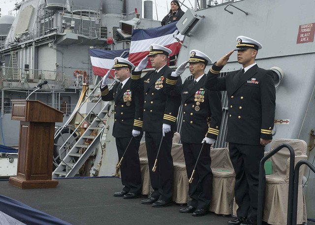 USS FITZGERALD Change of Command Ceremony December 15, 2015