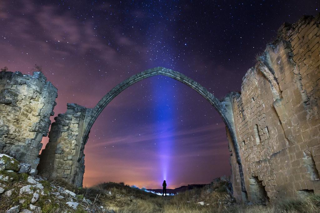 Nocturna en el Arco de San Juan  (Navarra)