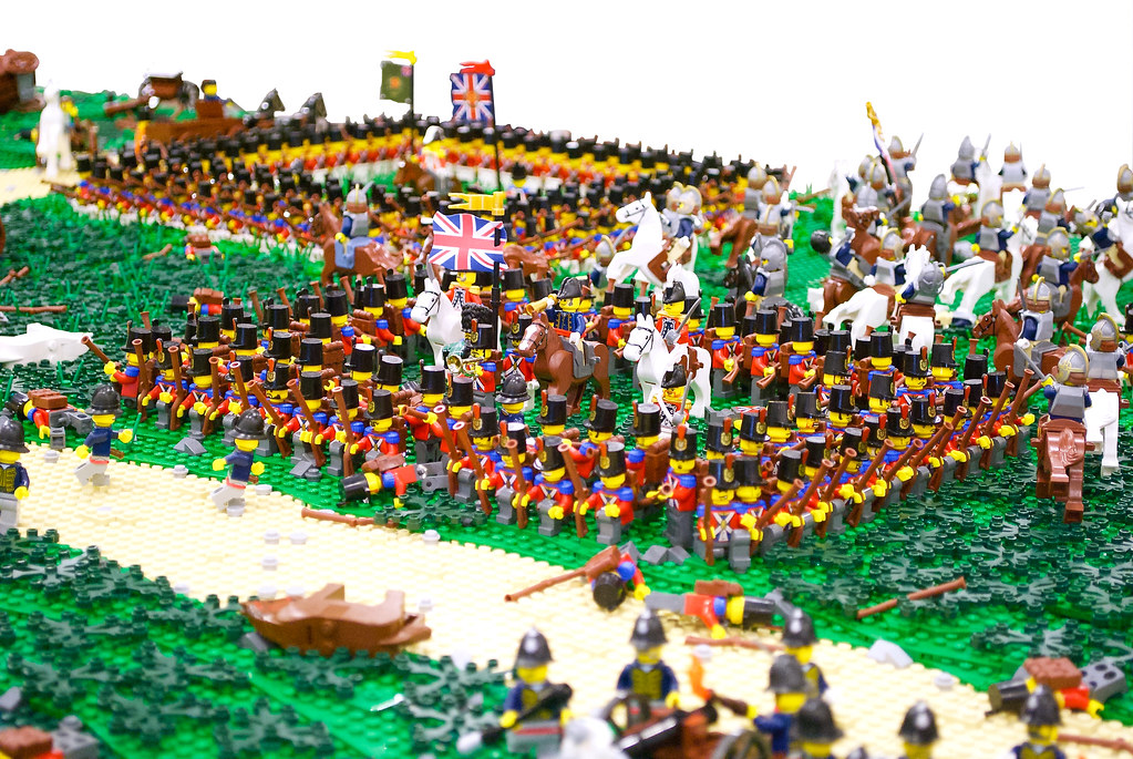 Battle of waterloo wellington 39 s infantry square a for Siege lego france