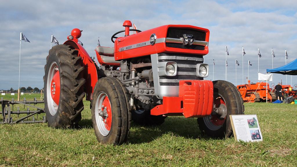 1966 Massey Ferguson Tractor : Massey ferguson petrol tractor seen at the