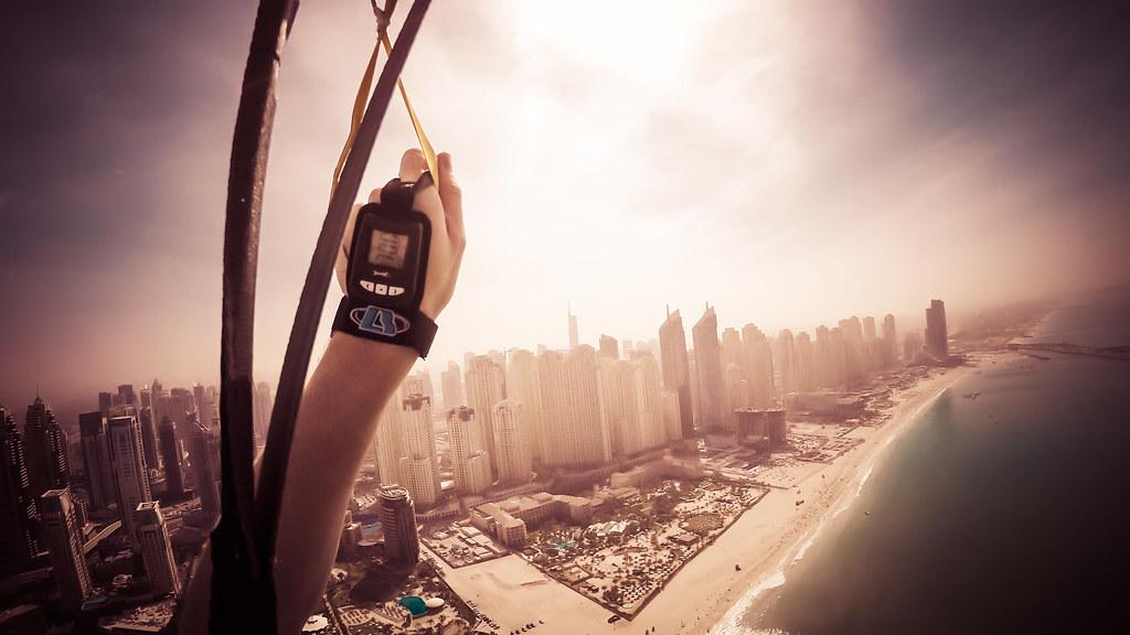 skydiving, dubai, dubai skyline