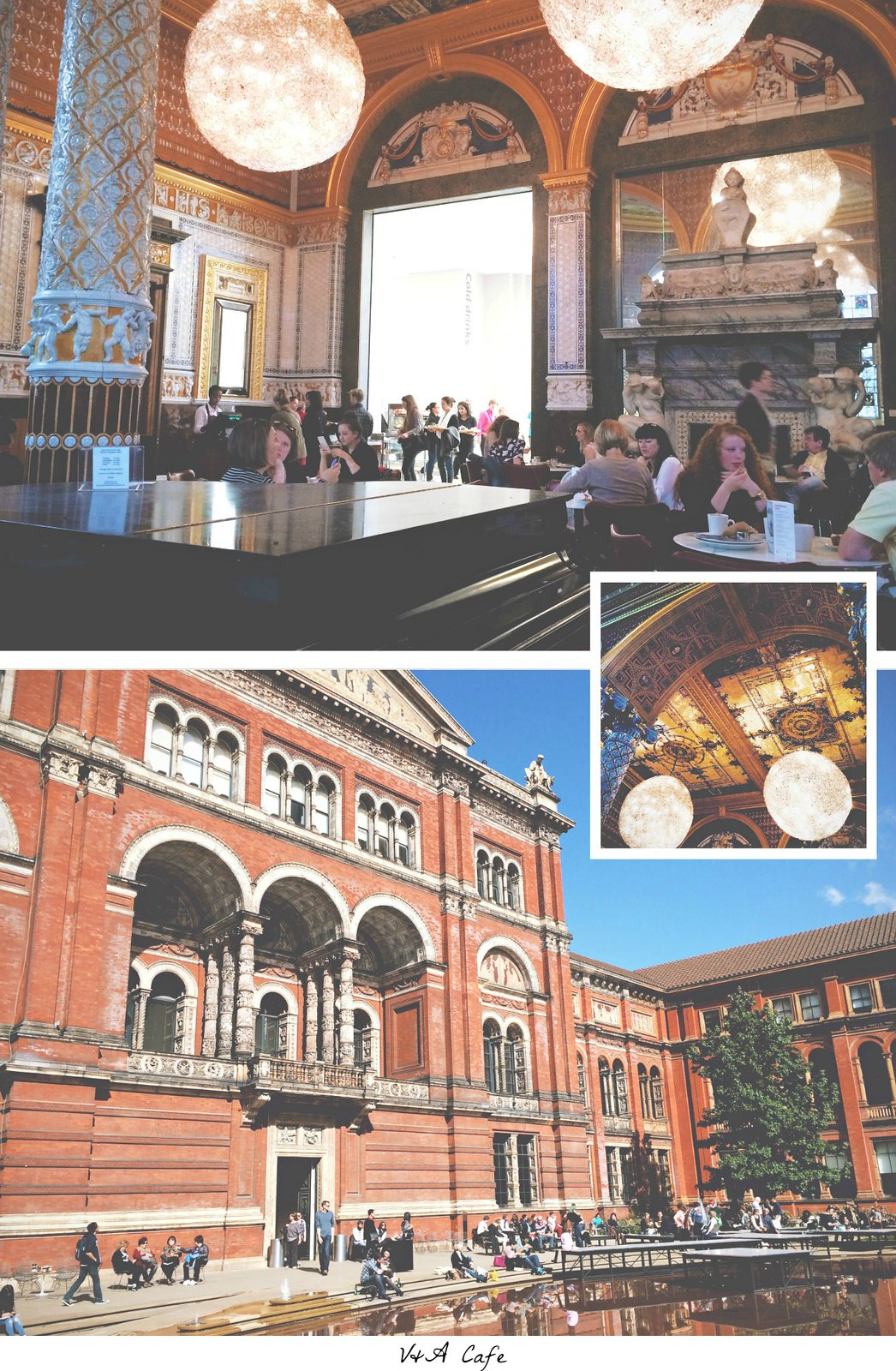 V&A Café at the V&A Museum, London | via It's Travel O'Clock