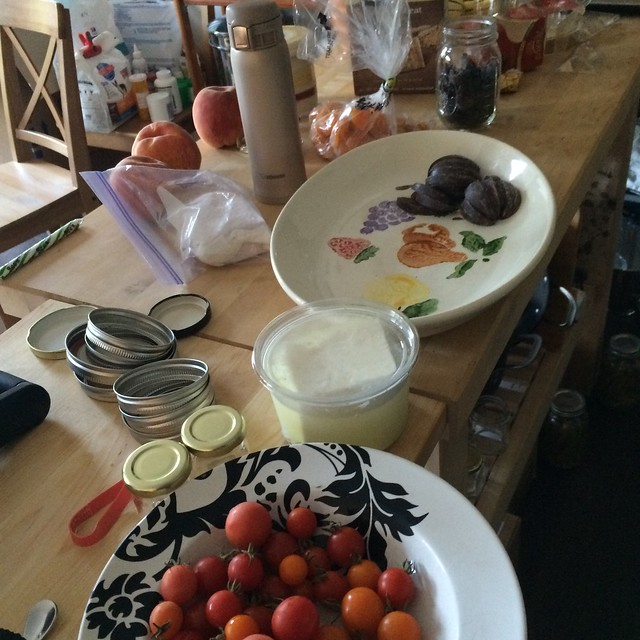 Preparing the fastest cheese, fruit, veggie, and chocolate plate ever. Including photos, took 10 minutes.