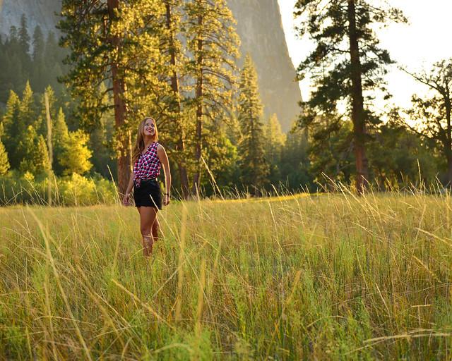 Atardecer en las praderas de Yosemite