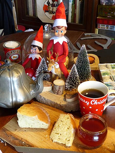préparatifs et goûter avant Noël