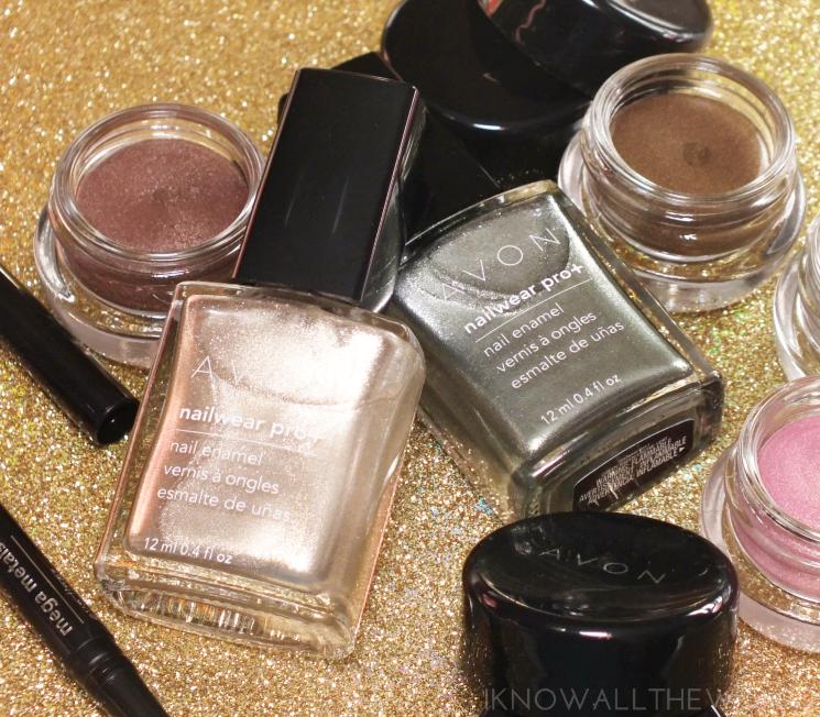 Avon Mega Metals nailwear pro + gold dust green sheen (3)