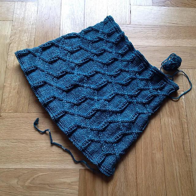 Gola tricotada em Arroyo da Malabrigo, pela Luísa