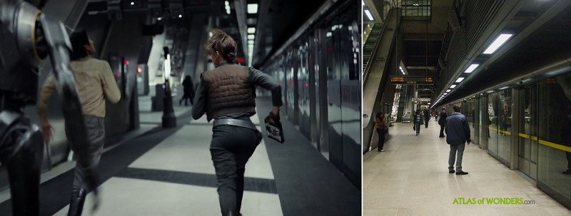 Spacecraft filmed in London underground