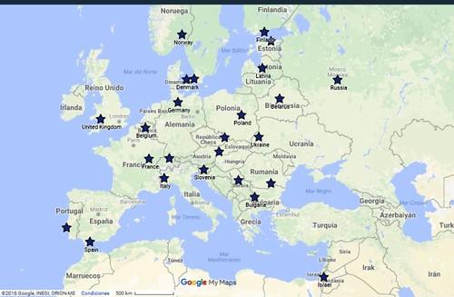 Países en los que está EUSTORY Europa.