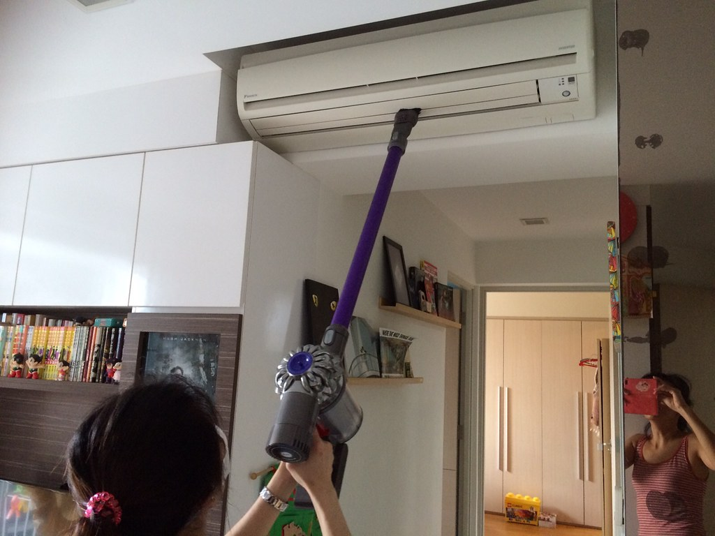 The Dyson V6 Fluffy can be used to clean the air-con vents too.