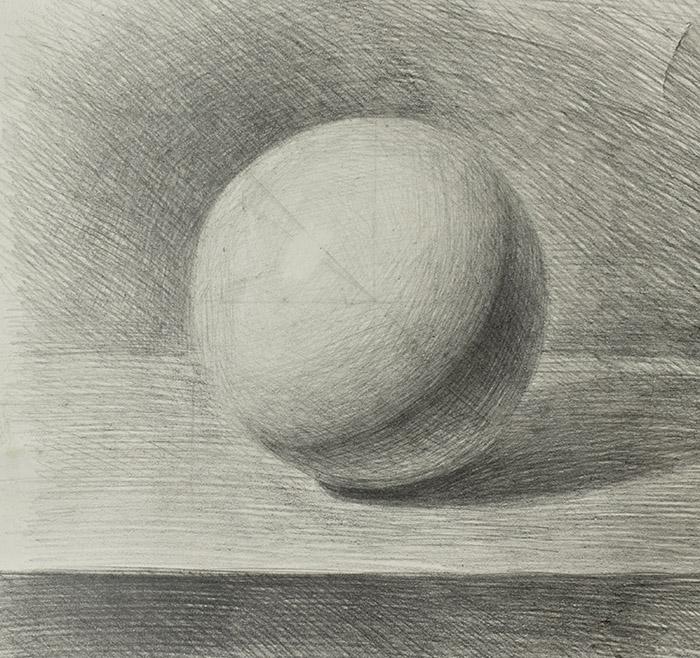 Рисунок шара карандашом