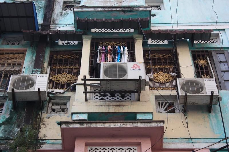 Старые дома Янгона