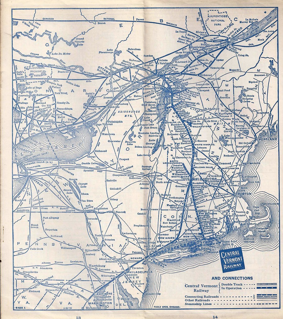 Central Vermont Railway Railroad Green Mountain Route S