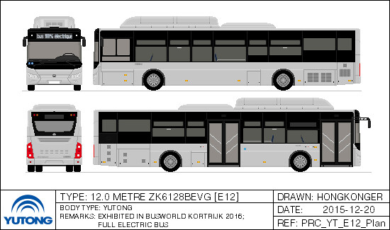 Yutong E12 Low Floor Electric Bus This Bus Has Been