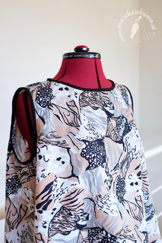 blog, marchewkowa, szycie, krawiectwo, bluzka z połowy koła, Vogue, 1950s, bawełna, sewing, vintage, retro, DIY, handmade, half circle blouse, cotton, wrocław szyje