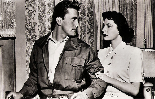 Kirk Douglas and Ruth Roman in Champion (1949)