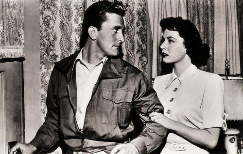 Kirk Douglas and Ruth Roman in Champion (1949)