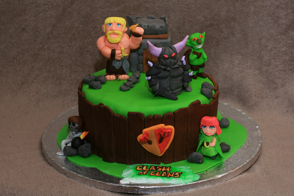 Cake Design Coc : Clash of clans cake Eldriva Flickr