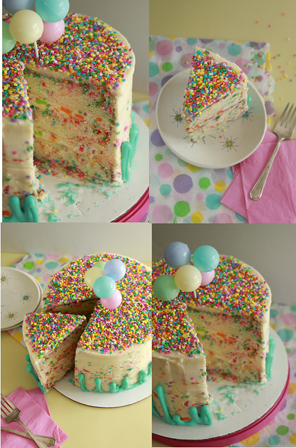 Rainbow Chip Funfetti Layer Cake