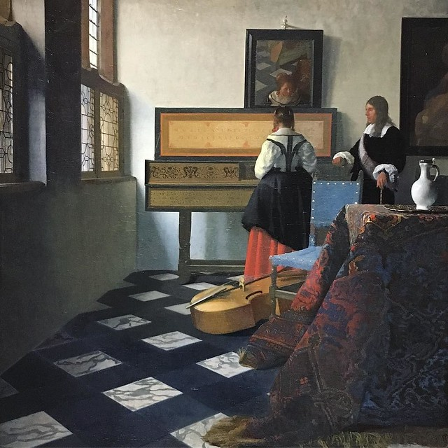 Vermeer, from a collection of Dutch masters on loan from the Queen of England.