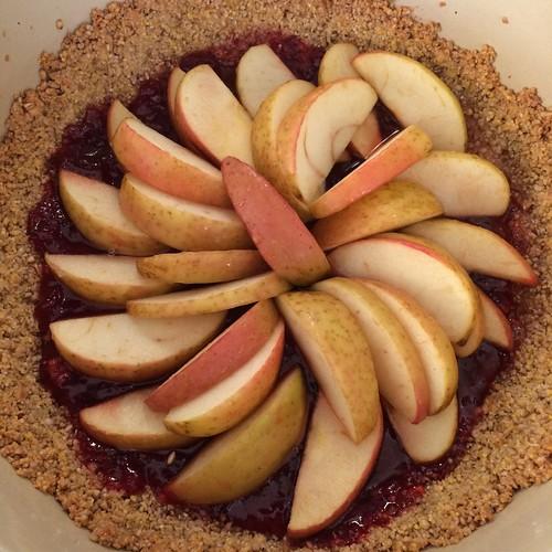 fruit tart in a nut crust