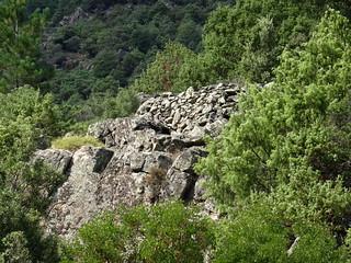 Visite de l'enclos-murets perché au-dessus des bergeries de l'Ancinu
