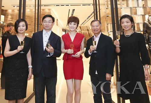 Group photo of Sun Li and brand executives