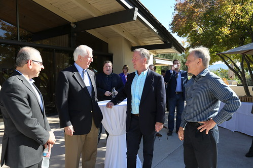 Osama El-Lissy, APHIS Deputy Administrator; U.S. Representative Mike Thompson; Greg Clark, Napa County Agricultural Commissioner; and Bob Wynn, CDFA's Statewide Coordinator for Pierce's Disease Control Program