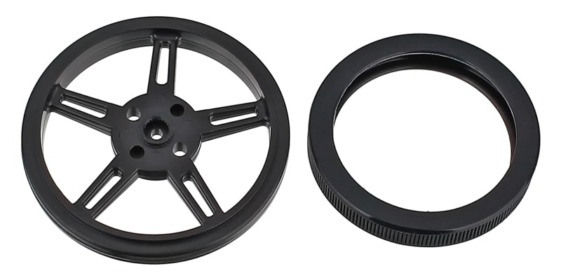 FS90R Servo Wheel with Tire Removed