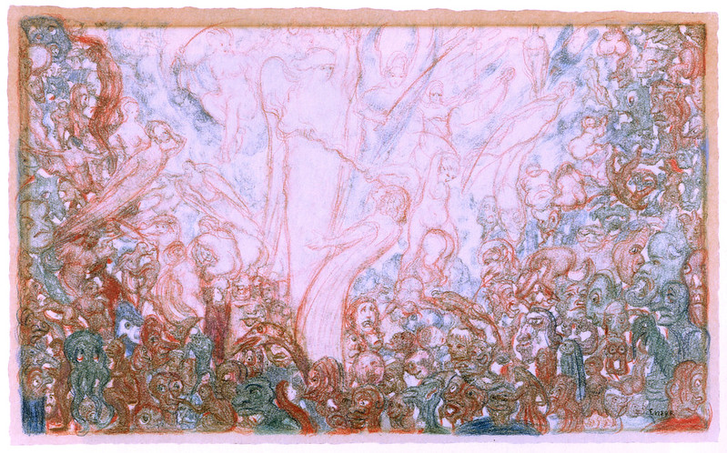 James Ensor - The Fight of the Angels and the Demons, 1888