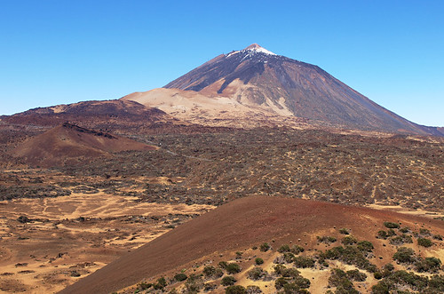 Volcanic crater and landscape, Teide National Park, Tenerife