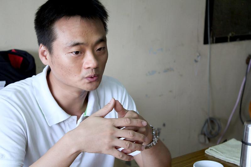 吳松霖談六輕。圖片來源:公民行動影音紀錄資料庫