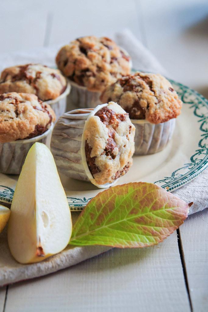 recette de muffins streusel à la poire