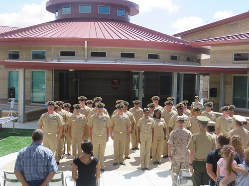 RAFAEL PERALTA CONGRATULATES ITS NEWEST CHIEF PETTY OFFICERS